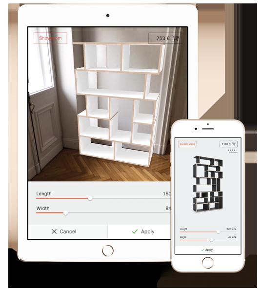 Die tylko app konfiguriere m bel mit augmented reality Furniture app