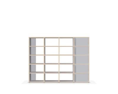 Grey made-to-measure display bookcase