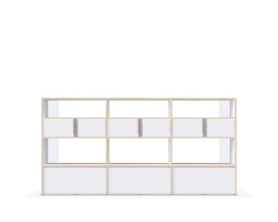 Wooden sideboard with drawers in white